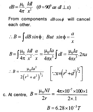 Plus Two Physics Chapter Wise Previous Questions Chapter 4 Moving Charges and Magnetism 8