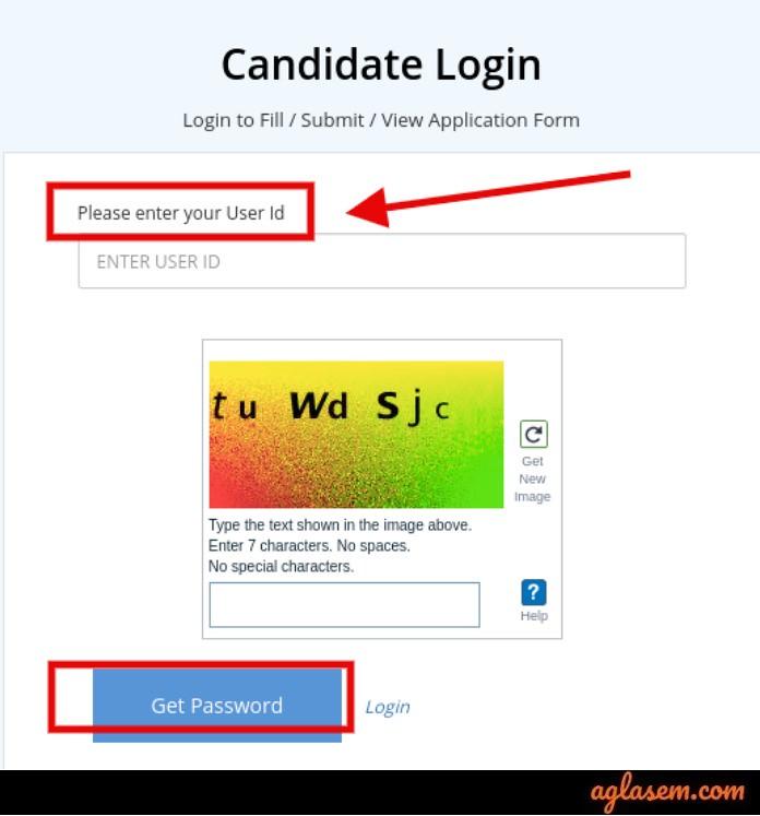 COMEDK 2019 Candidate's login