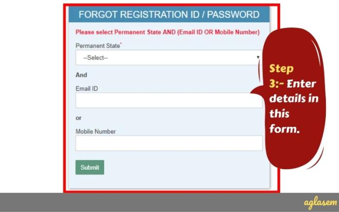 SSC GD Constable Answer Key Forgot Registration Number Password