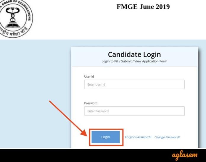 FMGE June 2019 - Login