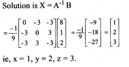 Plus Two Maths Chapter Wise Previous Questions Chapter 4 Determinants 10