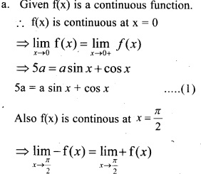 Plus Two Maths Chapter Wise Previous Questions Chapter 5 Continuity and Differentiability 5