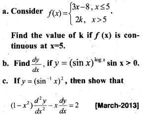 Plus Two Maths Chapter Wise Previous Questions Chapter 5 Continuity and Differentiability 52