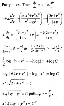 Plus Two Maths Chapter Wise Previous Questions Chapter 9 Differential Equations 15