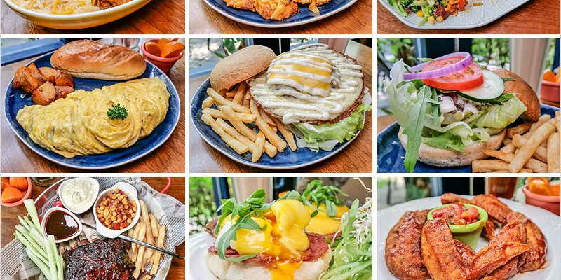 台中北屯早午餐 | olimato奧樂美特-美式創意早午餐,大份量餐點飽到嫑嫑的,套餐飲料無限續喝還能換口味,免費插座、免費wifi。