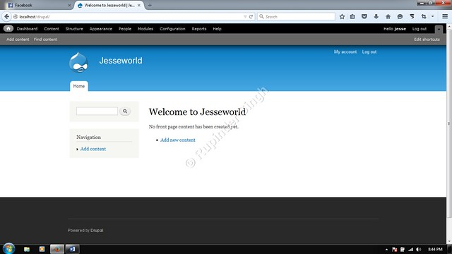 24 Drupal default Homepage