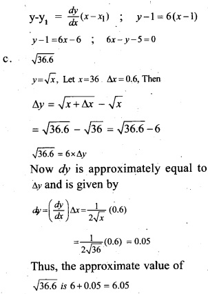 Plus Two Maths Chapter Wise Previous Questions Chapter 6 Application of Derivatives 6
