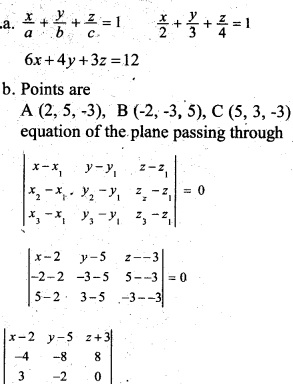 Plus Two Maths Chapter Wise Previous Questions Chapter 11 Three Dimensional Geometry 8