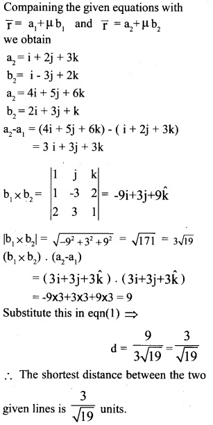 Plus Two Maths Chapter Wise Previous Questions Chapter 11 Three Dimensional Geometry 1