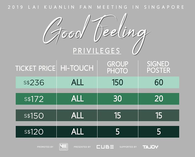 2019 LAI KUANLIN Fan Meeting 'Good Feeling' in Singapore Fan Benefit