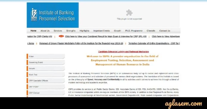 IBPS Admit Card website