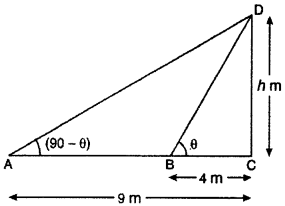 RBSE Solutions for Class 10 Maths Chapter 8 Height and Distance Q.26