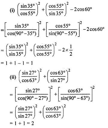 RBSE Solutions for Class 10 Maths Chapter 7 Trigonometric Identities Q.4.2