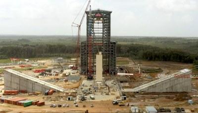 Ariane 6 launch pad under construction