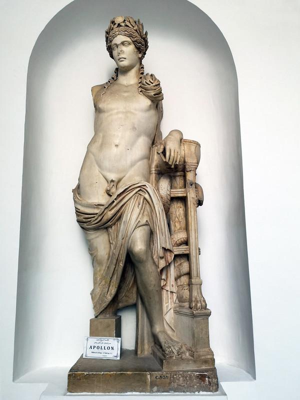 Escultura estatua de Apolo Museo Bardo Tunez