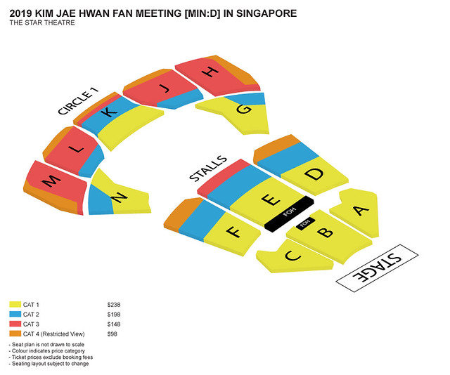 KimJaeHwan MIND in Singapore Seating Plan