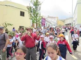 Cerca de un millar de escolares participan este viernes en la 'Ruta de Las Marías'