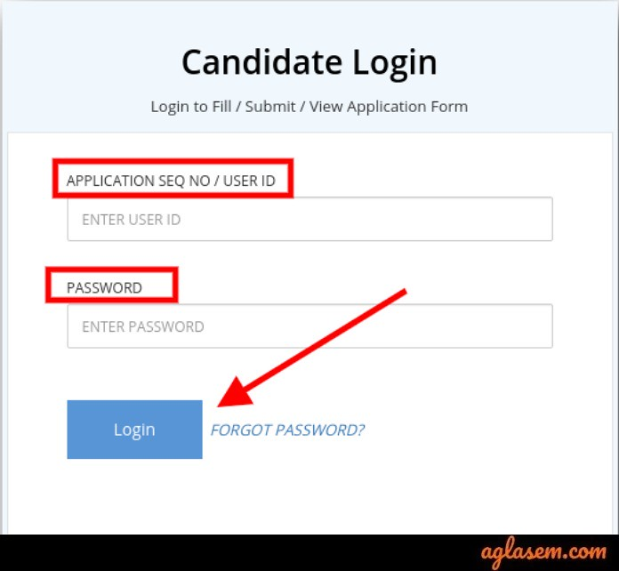 COMEDK 2019 Answer key: Candidate's login