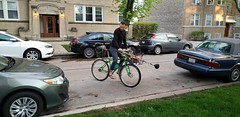 Carrying a bicycle on your front rack #cargorack #bikes