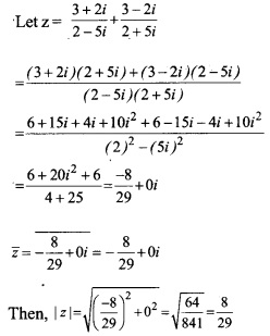 HSSlive Plus One Maths Chapter Wise Questions and Answers Chapter 5 Complex Numbers and Quadratic Equations 19