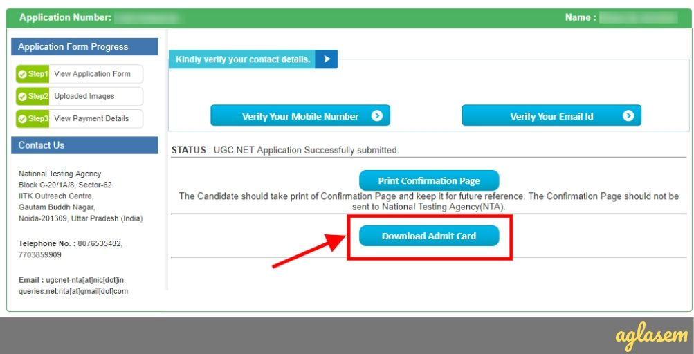 2021UGC NET Admit Card