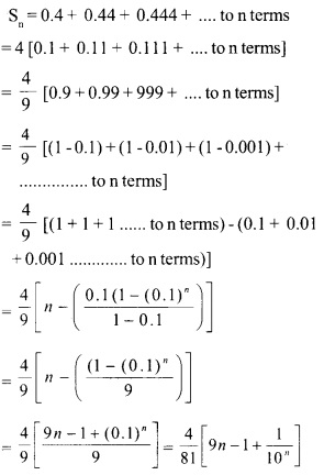 HSSlive Plus One Maths Chapter Wise Questions and Answers Chapter 9 Sequences and Series 21