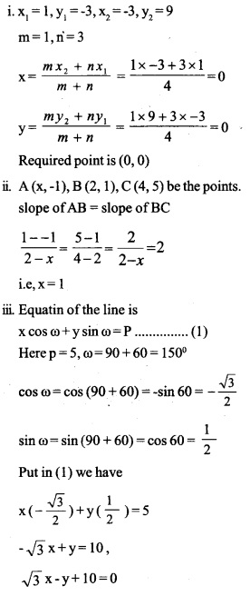 HSSlive Plus One Maths Chapter Wise Questions and Answers Chapter 10 Straight Lines 50