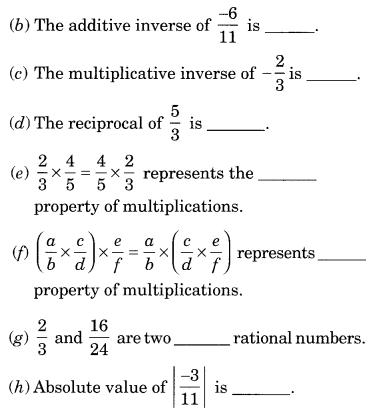Extra Questions for Class 8 Maths Rational Numbers Q24