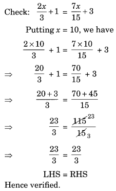 NCERT Solutions for Class 8 Maths Chapter 2 Linear Equations
