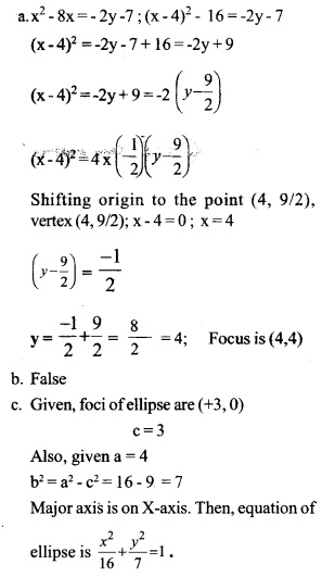 HSSlive Plus One Maths Chapter Wise Questions and Answers Chapter 11 Conic Sections 8