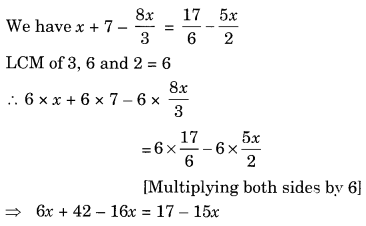 NCERT Solutions for Class 8 Maths Chapter 2 Linear Equations in One Variable Ex 2.5 Q3.1