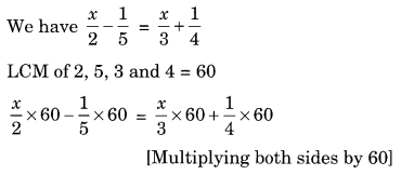 NCERT Solutions for Class 8 Maths Chapter 2 Linear Equations in One Variable Ex 2.5 Q1.1