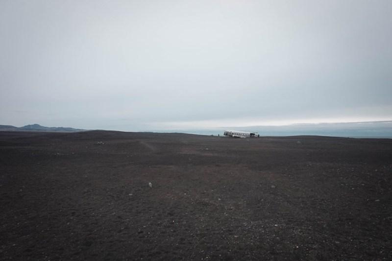 hylätty lentokone Islanti