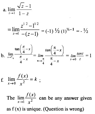 HSSlive Plus One Maths Chapter Wise Questions and Answers Chapter 13 Limits and Derivatives 58