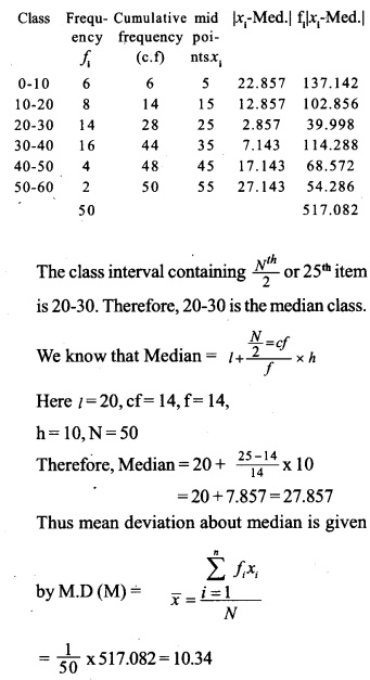 HSSlive Plus One Maths Chapter Wise Questions and Answers Chapter 15 Statistics 44