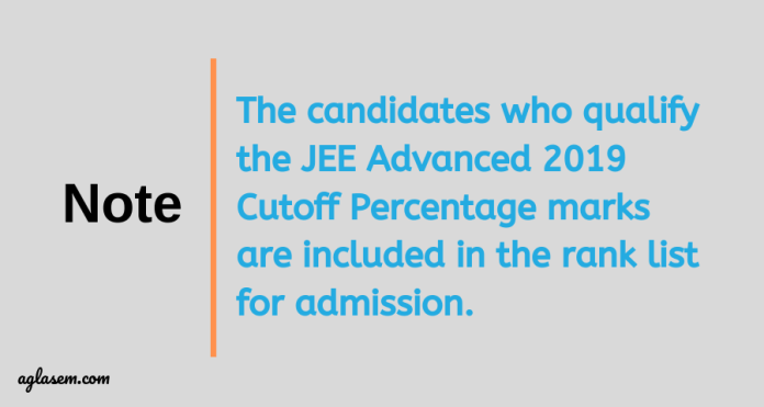 JEE Advanced 2019 Cutoff Analysis