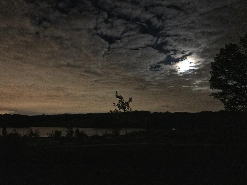 Moon over Camp Bullfrog Lake