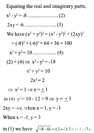 HSSlive Plus One Maths Chapter Wise Previous Questions Chapter 5 Complex Numbers and Quadratic Equations 4