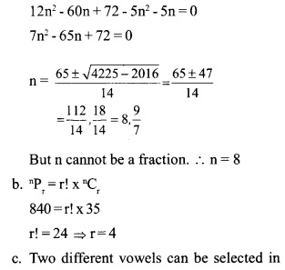 HSSlive Plus One Maths Chapter Wise Previous Questions Chapter 7 Permutation and Combinations 1