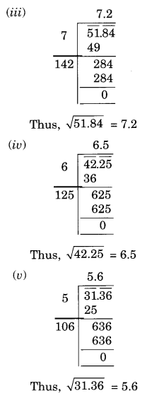 NCERT Solutions for Class 8 Maths Squares and Square Roots Ex 6.4 Q3.1