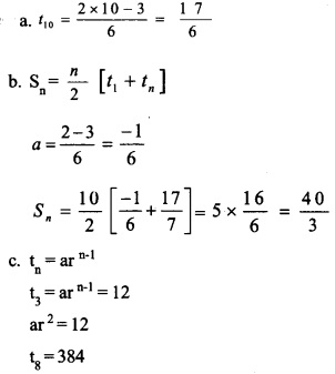 HSSlive Plus One Maths Chapter Wise Previous Questions Chapter 9 Sequences and Series 20