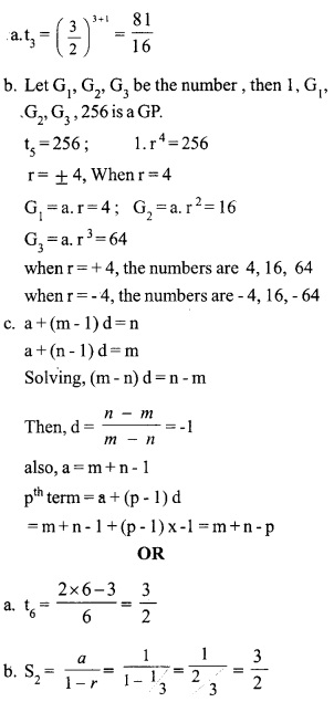 HSSlive Plus One Maths Chapter Wise Previous Questions Chapter 9 Sequences and Series 12