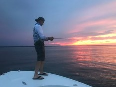Justin Bean finds plenty of pull while jigging.