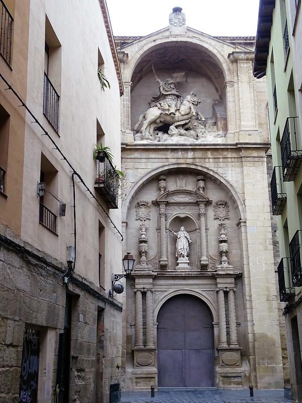 portada exterior iglesia de Santiago el Real Logroño La Rioja 03