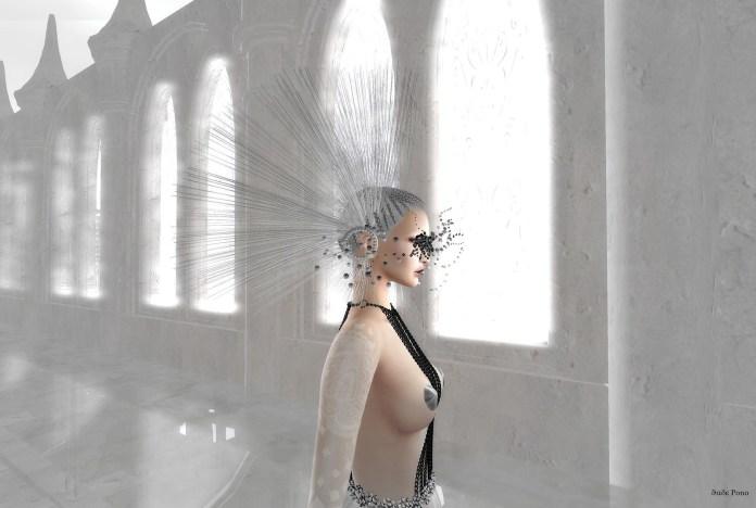 Azul Taja Gown w.Zibska White Avant-Garde