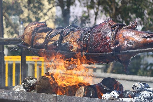 Valleseco celebra la fiesta del Asado del Cochino