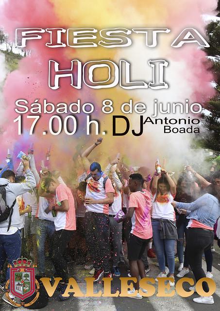 Los colores inundaran Valleseco en la Fiesta Holi