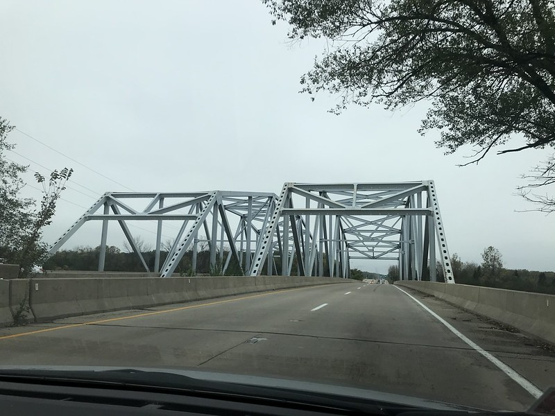 Doubled steel truss bridges