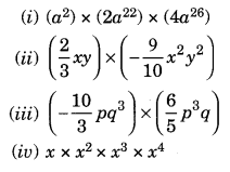 NCERT Solutions for Class 8 Maths Algebraic Expressions and Identities Ex 9.3 Q3