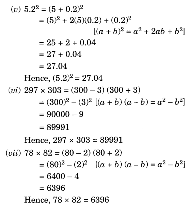 NCERT Solutions for Class 8 Maths Algebraic Expressions and Identities Ex 9.5 Q6.1
